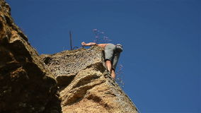 Extreme Climber stock footage