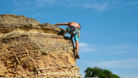 Extreme Climber stock video footage