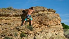 Extreme Climber Man stock video