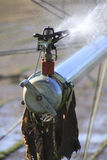 Extreme Close on Industrial Farm Irrigation Nozzle Stock Images