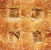 Extreme close-up of a apple pie Stock Photos