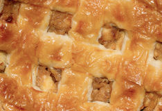 Extreme close-up of a apple pie Stock Images