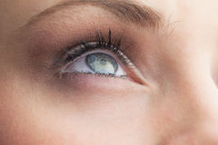 Extreme close up on beautiful blue eye Royalty Free Stock Photo