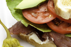 Extreme Close up of BLT Sandwich Royalty Free Stock Image