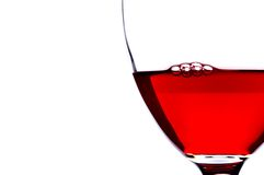 Extreme close-up of bubbles in red wine stock photography
