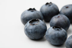 An extreme close-up of fresh blueberries. Stock Images