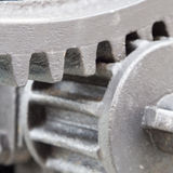 Extreme close up on gear parts Royalty Free Stock Photography