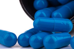 Generic Blue Pills Royalty Free Stock Photography