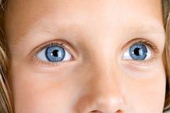 Extreme Close up of girls eyes. Stock Photo