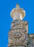 Extreme close - up of Monopoli Cathedral. Apulia. Royalty Free Stock Photos