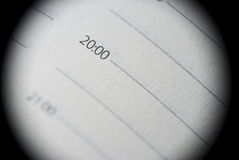 Extreme close-up of personal organiser. Extreme close-up of page of personal organizer Royalty Free Stock Photography
