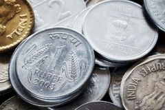 Extreme close up picture of Indian rupee. Stock Photography
