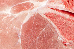 Extreme close up picture of pork leg fresh meat Stock Images