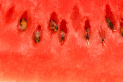 Extreme close up of the red watermelon Royalty Free Stock Photos