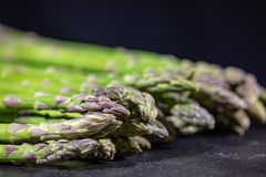Green asparagus, narrow focus shot Royalty Free Stock Images