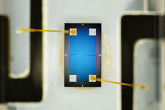 Extreme close up of silicon light detector Stock Photos