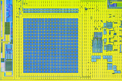 Extreme close up of silicon micro chip Royalty Free Stock Photos