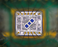 Extreme close up of silicon micro chip Stock Image