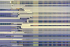 Extreme close up of silicon microprocessor chip Stock Photos