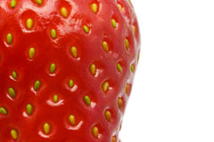 Extreme close up of a strawberry Royalty Free Stock Image