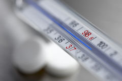 Extreme close up of thermometer Stock Photography