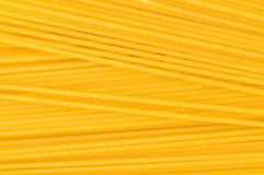 Extreme close up of yellow spaghetti Stock Photo
