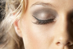 Extreme Close-Up Of Young Woman Royalty Free Stock Photography
