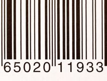 Extreme closeup of a barcode on a white background Stock Image