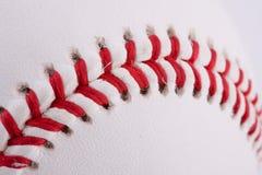 Extreme closeup of baseball Stock Photo