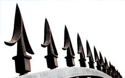 Extreme Closeup of Decorative Security Gate Spikes Royalty Free Stock Image