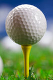 Extreme closeup of golf ball