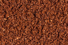 Extreme closeup of ground coffee Stock Image