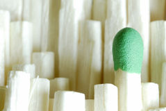 Extreme Closeup Of Matches Stock Photography