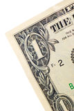 Extreme closeup on one dollar banknote Royalty Free Stock Images