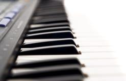 Extreme Closeup of piano keyboard Royalty Free Stock Photo