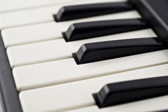 Extreme Closeup of piano keyboard Royalty Free Stock Images