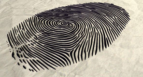 Fingerprint Extruded Stock Photography