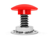 Extreme Closeup Red Button Royalty Free Stock Photography