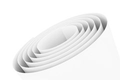 Extreme closeup roll of paper Royalty Free Stock Photo