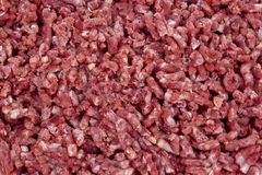 Extreme Closeup of Uncooked Fresh Minced Meat Stock Images