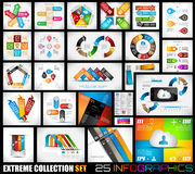 Extreme Collection of 25 quality Infographics Stock Image