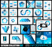 Extreme Collection of 25 quality Infographics background. A lot of different templates ready to display your data Royalty Free Stock Image