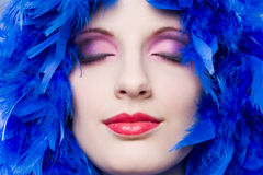Extreme colorful makeup shot. Stock Image