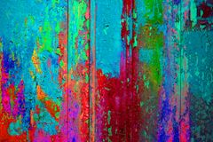 Extreme colorful wooden texture blue pink green red stock image