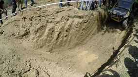 Extreme competition in mud stock video footage