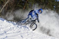 Extreme de wintersport royalty-vrije stock fotografie