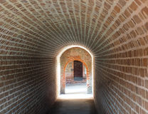 Extreme Depth of Field Photo of Tunnel in Civil War Era Fort Royalty Free Stock Images