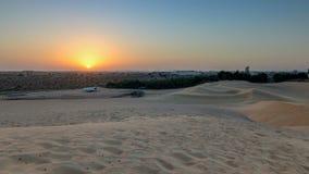 Extreme desert landscape timelapse with orange sunset, beautiful sandy background with hot sunlight, United Arab Emirates, Ajman. Extreme desert landscape stock images