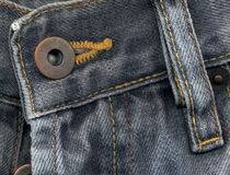 Extreme detail of jeans Stock Photos