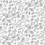 Extreme doodle seamless pattern Stock Photos